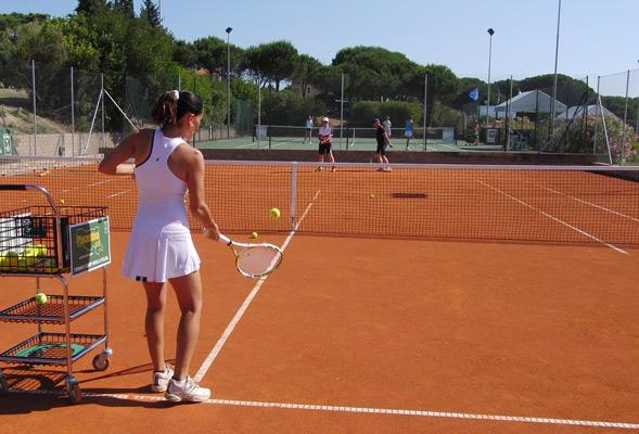 I nuovi campi da tennis della tenuta delle ripalte