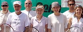 lezioni di gruppo di tennis in luoghi di vacanza