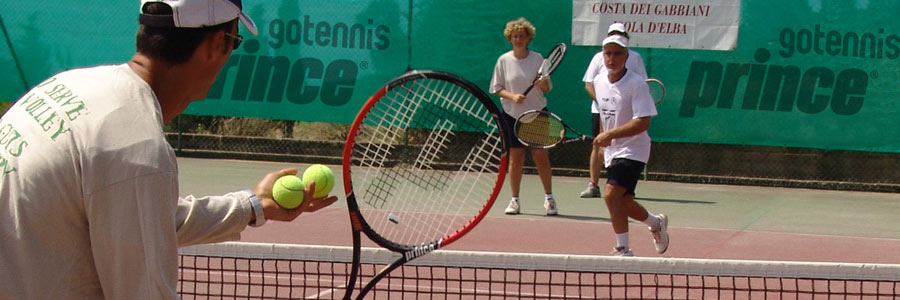clinic di tennis all'isola d'elba